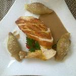 Supreme of Farm Chicken with A Cep Sauce