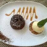 Chocolate Fondant with home made Ice Cream