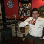 Me,enjoying a pint of beer.