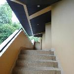 客室によってはこの階段。