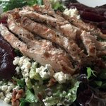 Pear Salad with Grilled Chicken....large and delicious!