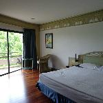 Room with laminated floor