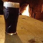 Roaring fire in the bar!