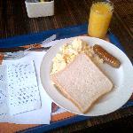 plus fantastic breakfast - i was on a diet :)