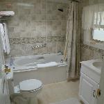 Dunes sunken bathroom with a jetted tub....