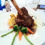 Delicious lamb shank