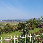 View of garden & Afon Dwyryd estuary from the terrace.