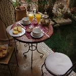 Breakfast at the courtyard