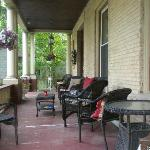 Front porch is inviting for quiet mornings, or evening gatherings with fellow travelers.