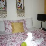 Carribean Room with towel swan