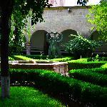 Artwork and garden