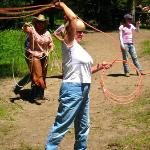 Roping at the Saturday cook-out!