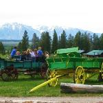 Kids LOVE the wagons! They also love playing nearby the stream or hide n seek in the sagebrush.