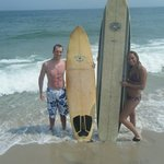 Tromm brother and sister surfing on Holyoke!! Best beach on LBI!!