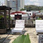 rooftop garden and relaxing area