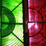 Green and red sector lights