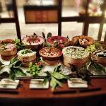 fisherman's dinner at cafe landaa / sushi selection