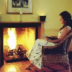 enjoy our estate wine infront of the fireplace in your suite