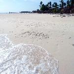 Aruba in the sand...