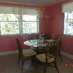 Pink Rose dining area.