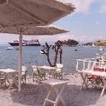 Ferry in Skiathos harbour