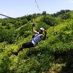 Zip lining excursion on our stay at Casa Linda