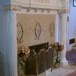 One of the Fireplaces with Tiffany inlay