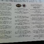 Beer list for the day