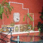 Bonita fuente en el patio