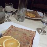 Crepes Suzette for dessert