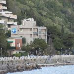 View of Hotel Miramare from Castle Miramare (walking distance)