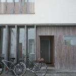 Our bikes+guest entrance