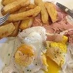 Ham egg and chips £8.50