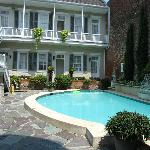 Quaint courtyard with refreshing pool up to 6ft deep