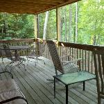 The upper deck...perfect for an evening wine or a morning coffee!!