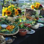 Buffet food - OC Wine School launch party