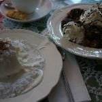 Some traditional desserts (Cottage Cheese on left)