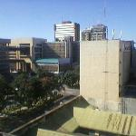 Lusaka Business District from my Room on 5 th Floor of Protea Cairo Road