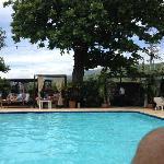 Calm pool area