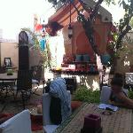 The stunning court yard area where you have breakfast and can lounge around sipping mint tea