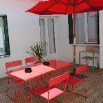 patio au 1er étage
