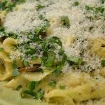 Homemade pasta with herbs & Parmesan