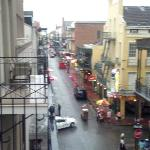 From balcony looking down Bourbon Street