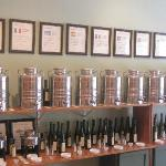 Tasting walls of flavored olive oils and balsamics, yum!
