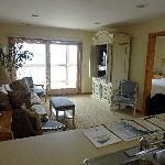 Wohnzimmer, von der Küche aus gesehen