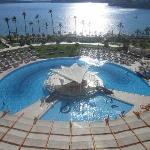 Pool and hotel grounds