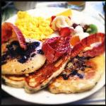 Harold's blueberry pancake breakfast.