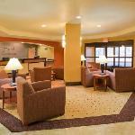 Hotel Lobby with Fireplance