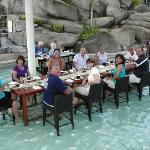 Lomani Wai in the water- Radisson Hotel