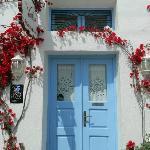 Doors and Flowers of Santorini